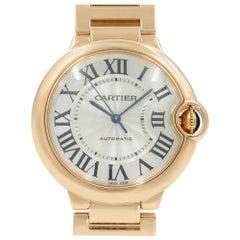Cartier Ballon Bleu 18 Karat Rose Gold Automatic Midsize Watch W69004Z2 Mint B/P