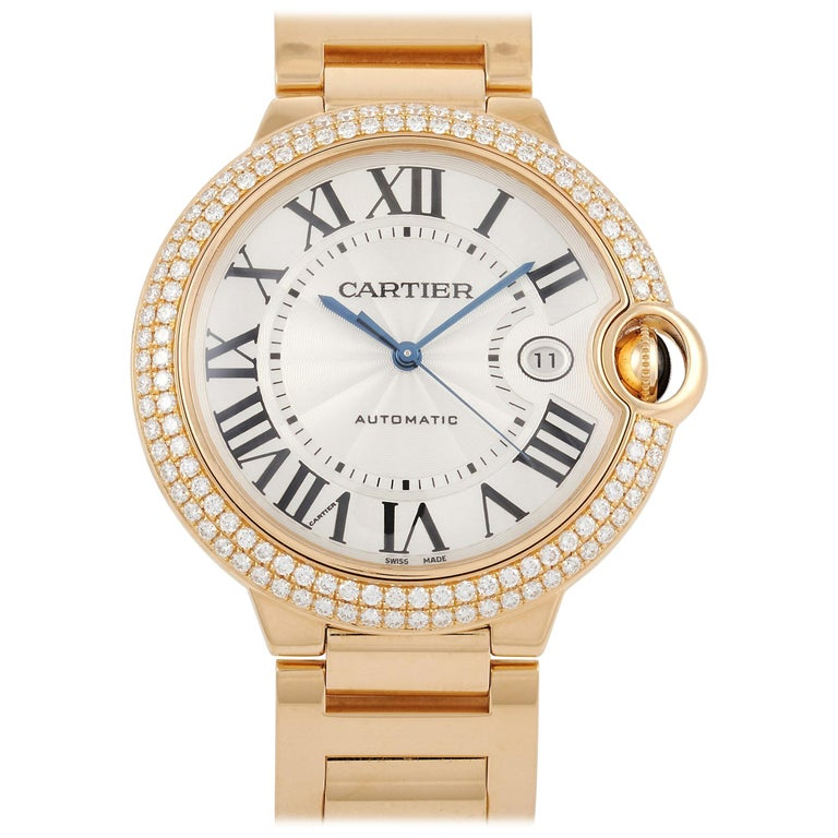 Cartier Ballon Bleu rose-gold men's watch, contemporary, offered by Luxury Bazaar