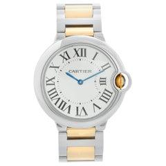 Cartier Ballon Bleu 2-Tone Midsize Quartz Steel and Gold Watch W69008Z3 3005