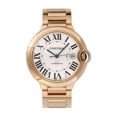 Cartier Ballon Bleu 2999 18 Karat Rose Gold Men's Watch