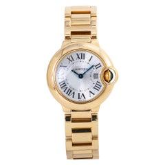 Cartier Ballon Bleu 3006 W69001Z2 Womens Quartz Watch 18K Gold with B/P