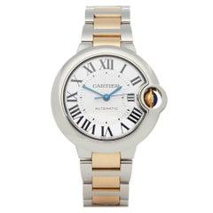 Cartier Ballon Bleu 3489 Ladies Stainless Steel and Yellow Gold Watch