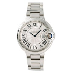 Cartier Ballon Bleu 3653 W6920084 Women's Quartz Stainless Watch Silver Dial