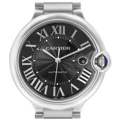 Cartier Ballon Bleu 42 Black Dial Steel Men's Watch W6920042