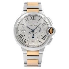Cartier Ballon Bleu 18K Rose Gold Silver Dial Automatic Mens Watch W6920063
