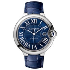 Cartier Ballon Bleu Automatic Blue Men's Watch WSBB0025