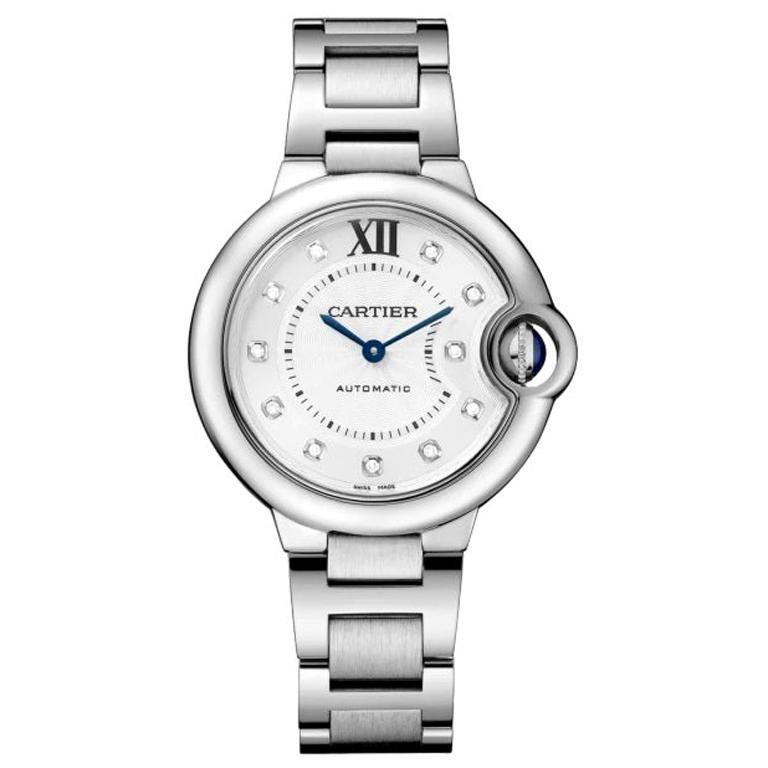 Cartier Ballon Bleu Automatic Ladies Diamond Watch WE902074