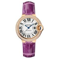 Cartier Ballon Bleu Automatic Pink Gold and Diamond Ladies Watch WJBB0051