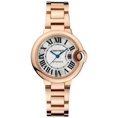 Cartier Ballon Bleu Automatic Pink Gold Ladies Watch W6920096