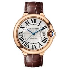 Cartier Ballon Bleu Automatic Pink Gold Men's Watch WGBB0017