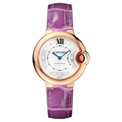 Cartier Ballon Bleu Automatic Rose Gold and Diamond Ladies Watch WE902063