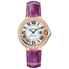 Cartier Ballon Bleu Automatic Rose Gold and Diamond Ladies Watch WE902066
