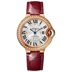 Cartier Ballon Bleu Automatic Rose Gold and Diamond Ladies Watch WJBB0033