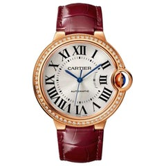 Cartier Ballon Bleu Automatic Rose Gold and Diamond Ladies Watch WJBB0034