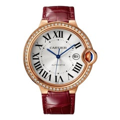 Cartier Ballon Bleu Automatic Rose Gold and Diamond Ladies Watch WJBB0035