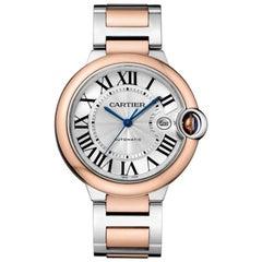 Cartier Ballon Bleu Automatic Rose Gold and Steel Men's Watch W2BB0004
