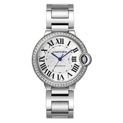 Cartier Ballon Bleu Automatic Steel and Diamond Ladies Watch W4BB0017