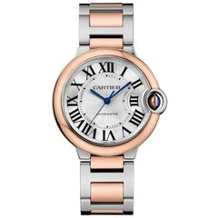 Cartier Ballon Bleu Automatic Steel and Rose Gold Ladies Watch W2BB0003