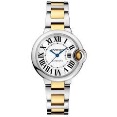 Cartier Ballon Bleu Automatic Steel and Yellow Gold Ladies Watch W2BB0002