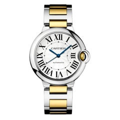Cartier Ballon Bleu Automatic Steel and Yellow Gold Ladies Watch W2BB0012