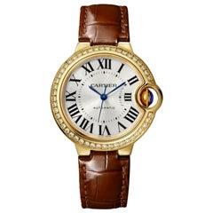 Cartier Ballon Bleu Automatic Yellow Gold and Diamond Ladies Watch WJBB0040