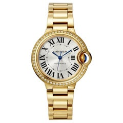 Cartier Ballon Bleu Automatic Yellow Gold and Diamond Watch WJBB0042