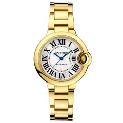 Cartier Ballon Bleu Automatic Yellow Gold Ladies Watch WGBB0005