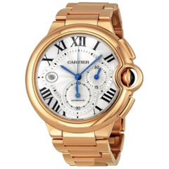 Cartier Ballon Bleu Chronograph 18 Karat Solid Rose Gold 232 Grams, Estate