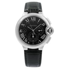 Cartier Ballon Bleu Chronograph Black Dial Steel Automatic Men's Watch W6920052