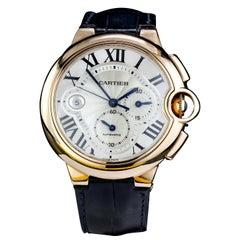 Cartier Ballon Bleu Chronograph Men's Wristwatch, with 18kt Rose Gold