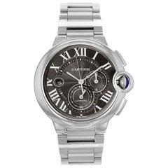 Cartier Ballon Bleu Chronograph Steel Grey Dial Automatic Men's Watch W6920025