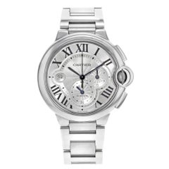 Cartier Ballon Bleu Chronograph Steel Silver Dial Automatic Men's Watch W6920002