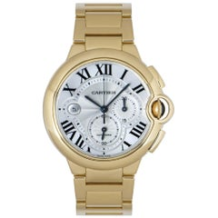 Cartier Ballon Bleu Chronograph Yellow Gold B&P W6920008