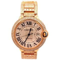Cartier Ballon Bleu de Cartier 18K Rose Gold Automatic Movement Diamond Watch