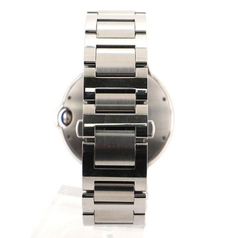 Cartier Ballon Bleu de Cartier Automatic Watch Stainless Steel 42 In Good Condition For Sale In New York, NY