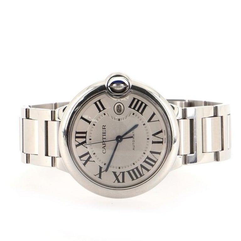 Women's or Men's Cartier Ballon Bleu de Cartier Automatic Watch Stainless Steel 42 For Sale