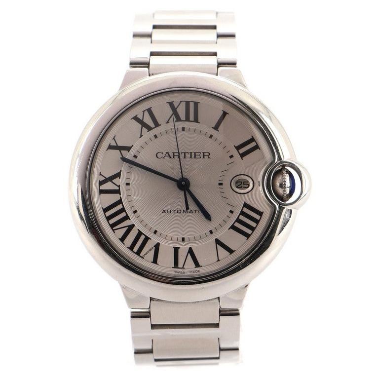 Cartier Ballon Bleu de Cartier Automatic Watch Stainless Steel 42 For Sale