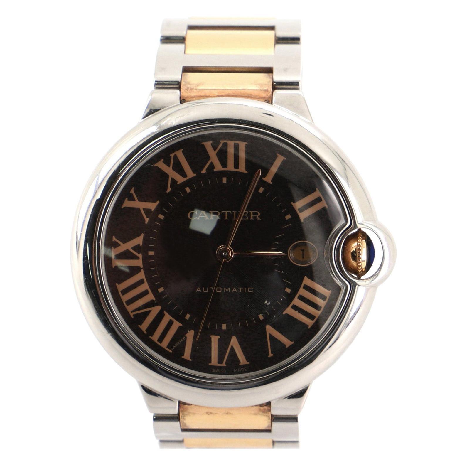 Cartier Ballon Bleu de Cartier Automatic Watch Stainless Steel and Rose Gold