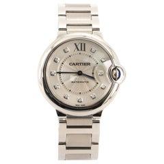 Cartier Ballon Bleu de Cartier Automatic Watch Stainless Steel with Diamond