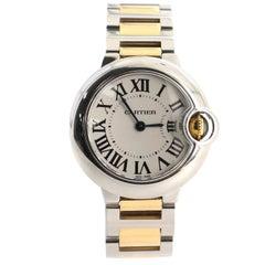 Cartier Ballon Bleu De Cartier Quartz Watch Stainless Steel and Yellow Gold 29
