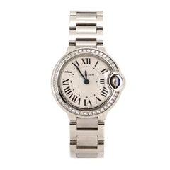 Cartier Ballon Bleu de Cartier Quartz Watch Stainless Steel with Diamond Bezel