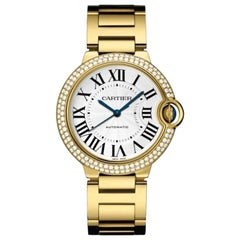 Cartier Ballon Bleu De Cartier Yellow Gold Diamond Watch WJBB0007