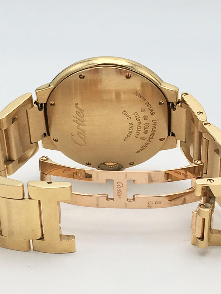 Cartier 'Ballon Bleu de Cartier' Yellow Gold Watch In Excellent Condition For Sale In New York, NY