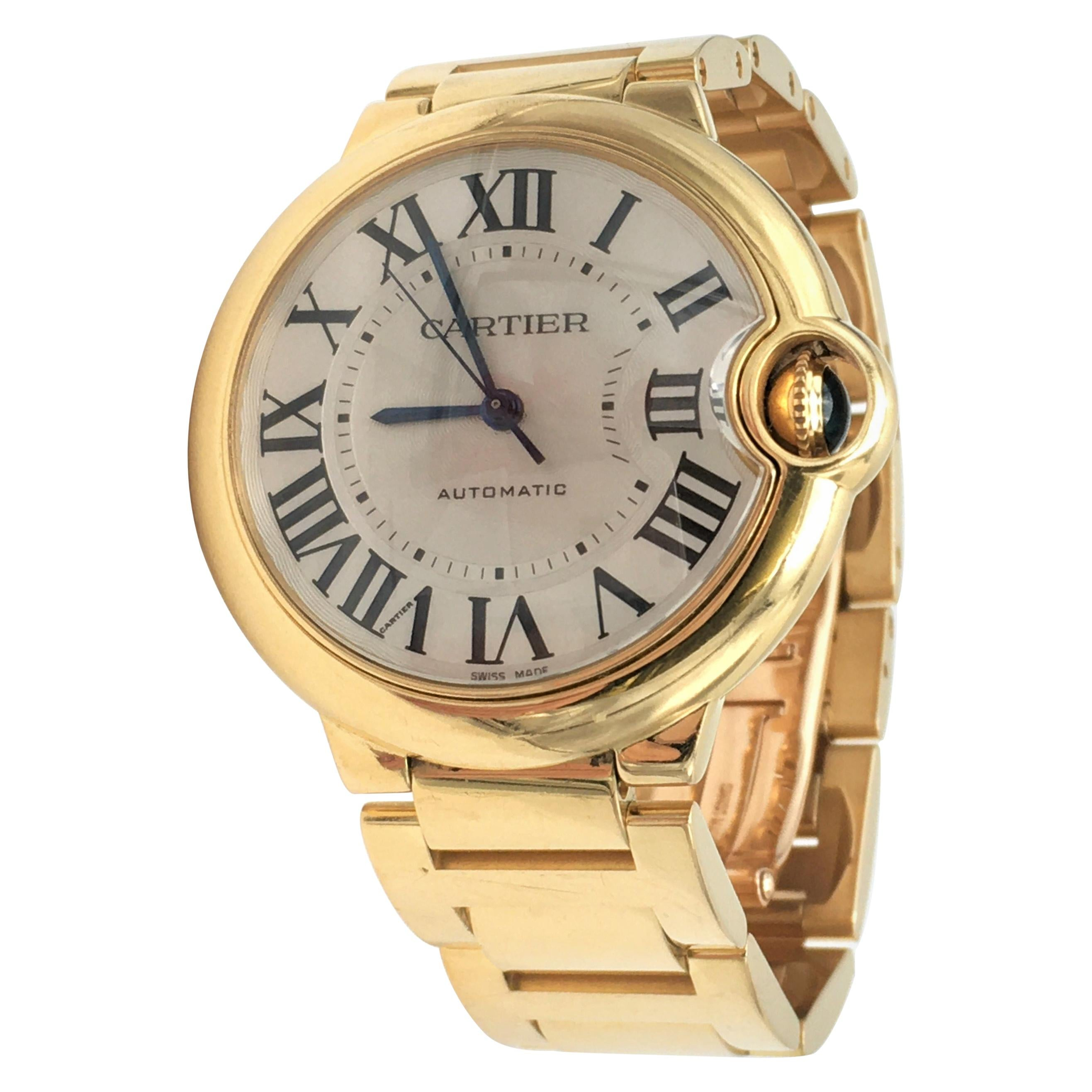 Cartier 'Ballon Bleu de Cartier' Yellow Gold Watch