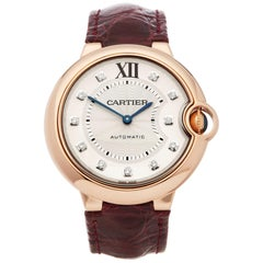 Cartier Ballon Bleu Diamond 18 Karat Rose Gold 3003 Or WJBB0010