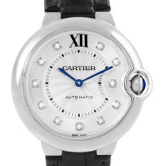 Cartier Ballon Bleu Diamond Dial Steel Ladies Watch W4BB0009