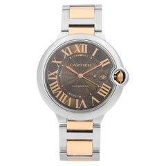 Cartier Ballon Bleu Gold Steel Chocolate Dial Automatic Men's Watch W6920032