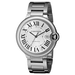 Cartier Ballon Bleu Guilloché Silver Dial Men's Watch
