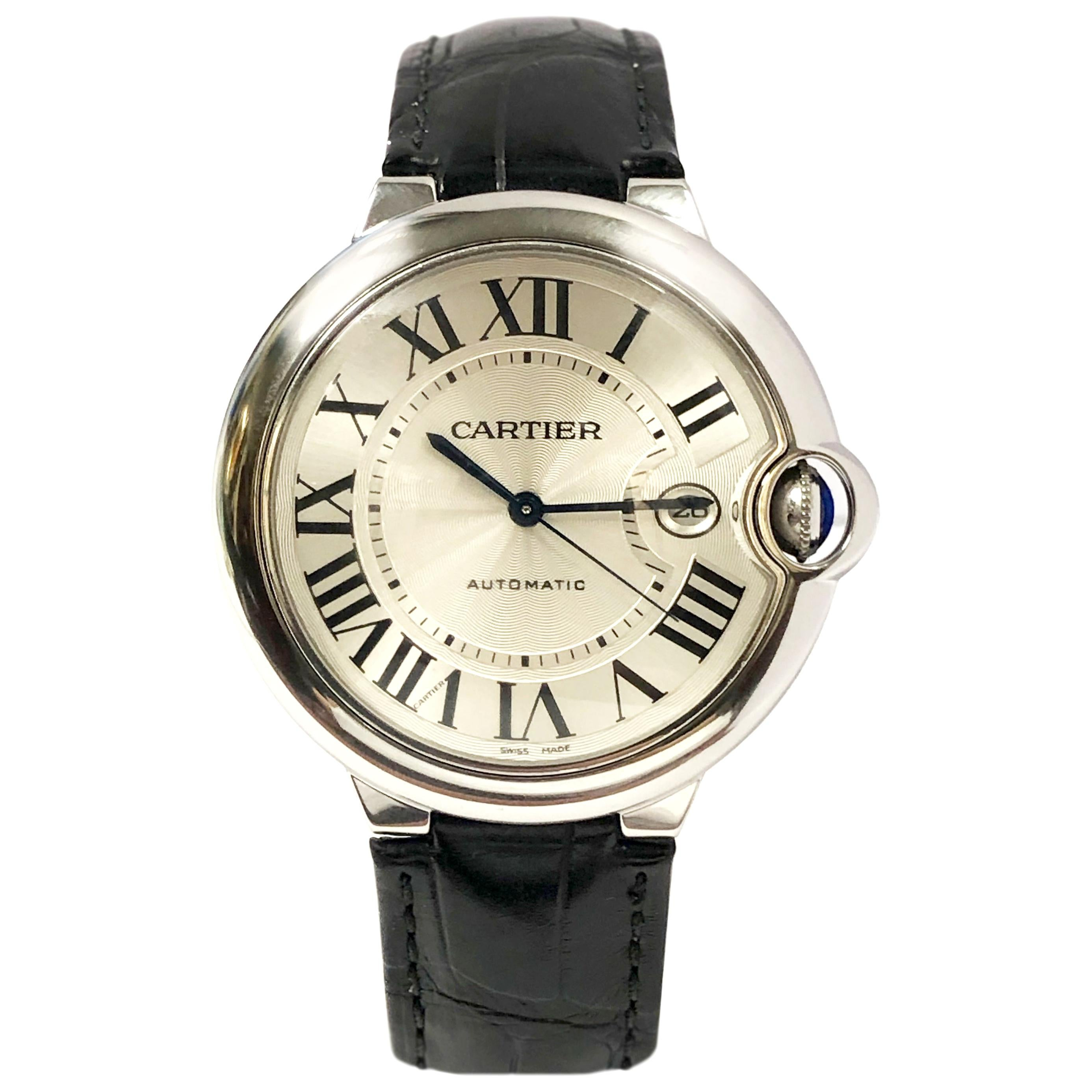 Cartier Ballon Bleu Largest Steel Automatic Wristwatch