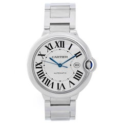 Cartier Stainless Steel Ballon Bleu Automatic Wristwatch Ref W69012Z4